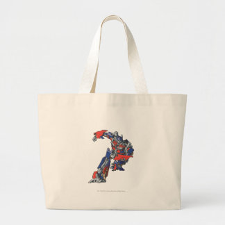 Optimus Prime Line Art 4 Large Tote Bag