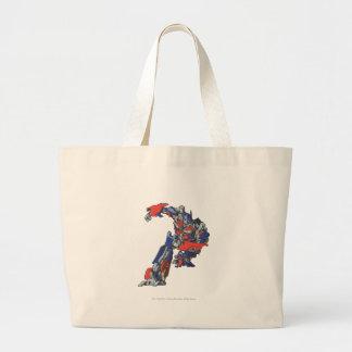 Optimus Prime Line Art 4 Large Tote Bag