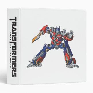 Optimus Prime Line Art 5 3 Ring Binder
