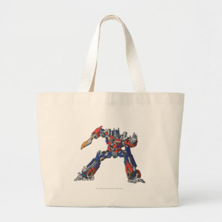 Optimus Prime Line Art 5 Large Tote Bag
