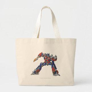 Optimus Prime Line Art 5 Large Tote Bag