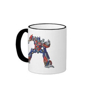 Optimus Prime Line Art 5 Ringer Mug