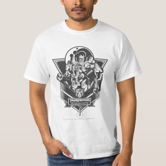Optimus Prime Metal Badge 2 T-Shirt