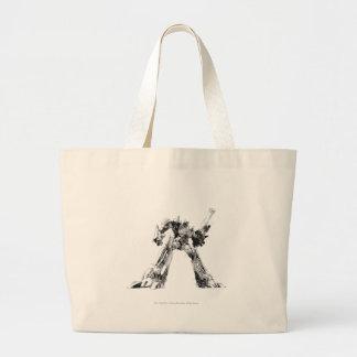 Optimus Prime Sketch 1 Large Tote Bag