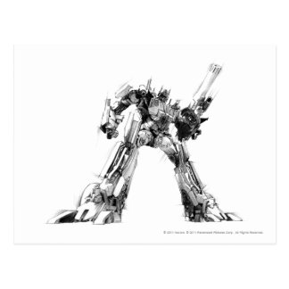 Optimus Prime Sketch 1 Postcard