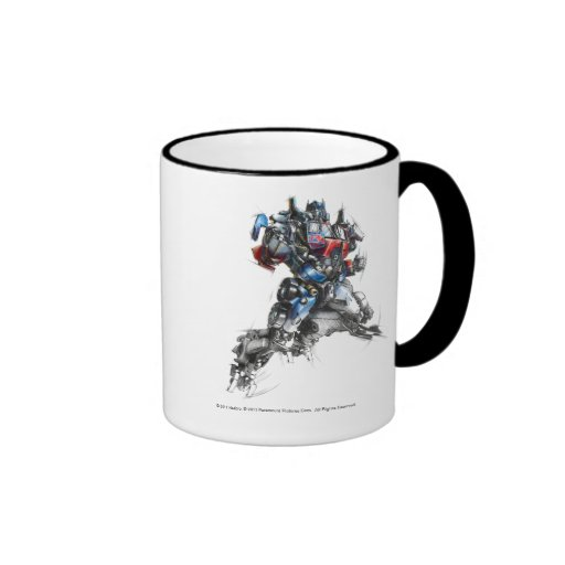 Optimus Prime Sketch 2.5 Coffee Mugs