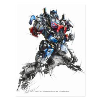 Optimus Prime Sketch 2.5 Postcard