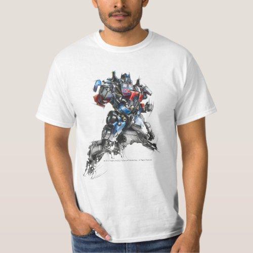 Optimus Prime Sketch 25 T_Shirt