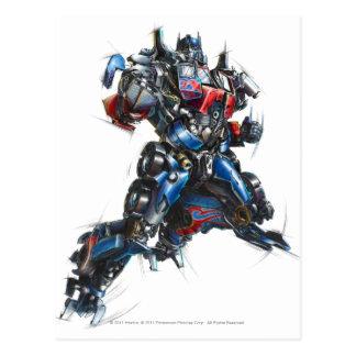 Optimus Prime Sketch 2 Postcard