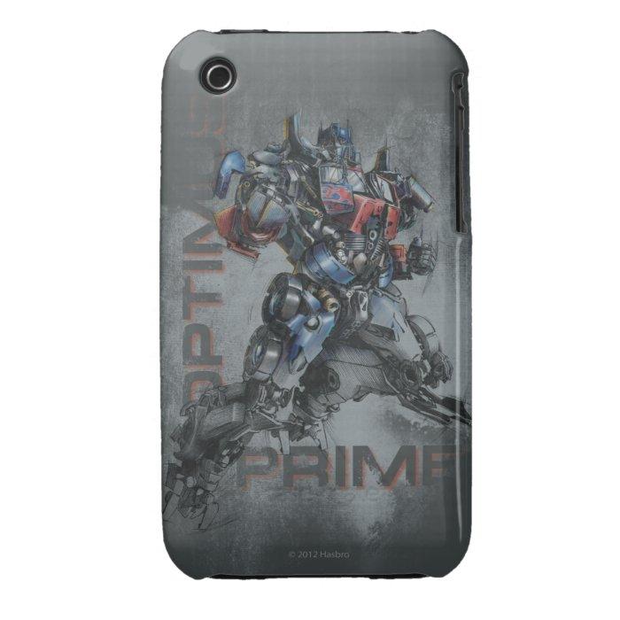 Optimus Prime Stylized Sketch Case-Mate iPhone 3 Case