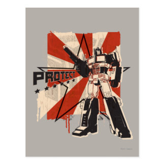 Optimus - Protect Postcard