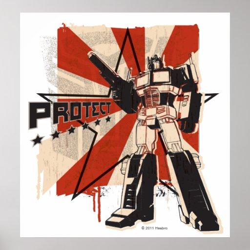 Optimus - Protect Poster