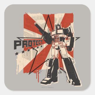 Optimus - proteja pegatinas cuadradases