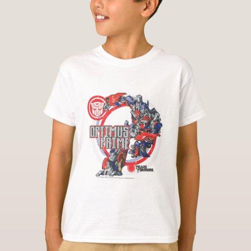 Optimus TF Badge Round T_Shirt