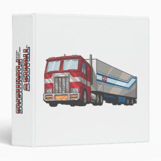 Optimus Truck Mode 3 Ring Binder