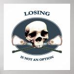 Option Skull Lacrosse Poster