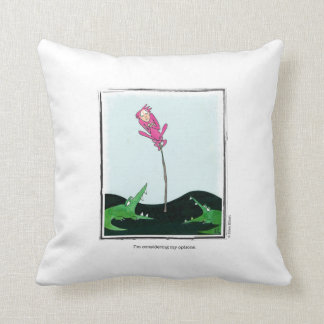 OPTIONS cartoon by Ellen Elliott Throw Pillow