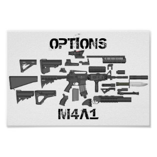 Options M4A1 Poster