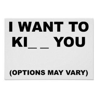 Options May Vary Funny Poster
