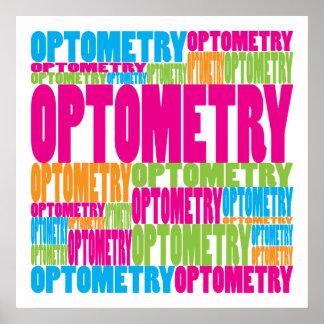 Optometría colorida póster