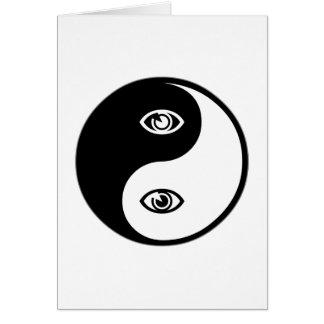 Optometría de Yin Yang Tarjeta De Felicitación