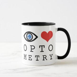 Optometría del amor del ojo