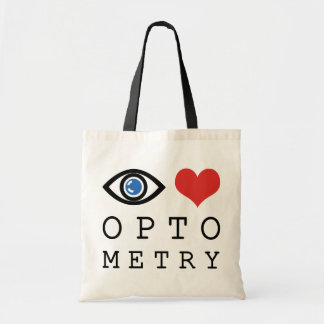 Optometría del amor del ojo bolsas de mano