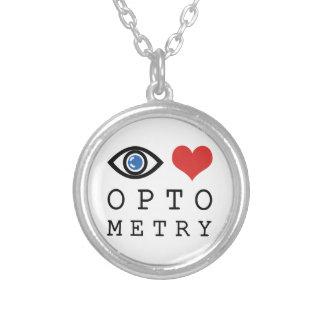 Optometría del corazón del amor del ojo - carta de colgante redondo