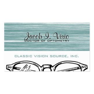 Optometría Vision de las gafas de las gafas estrid Tarjetas De Visita