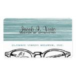 Optometría Vision de las gafas de las gafas estrid Tarjetas De Negocios