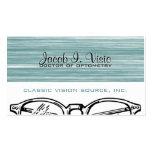 Optometría Vision de las gafas de las gafas Tarjetas De Visita