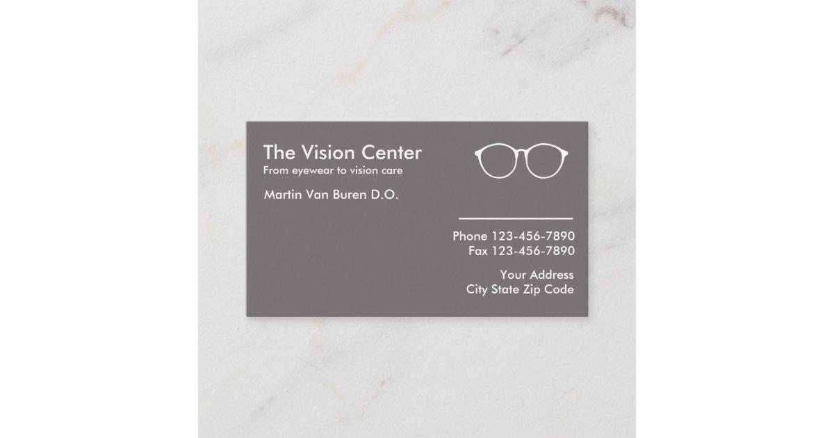 Optometrist And Vision Care Referral Card | Zazzle.com