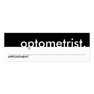 optometrist appointment card