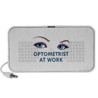 OPTOMETRIST AT WORK TRAVELLING SPEAKERS
