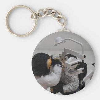 Optometrist Basic Round Button Keychain