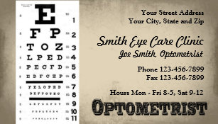 Optometry business cards templates zazzle optometrist business card colourmoves