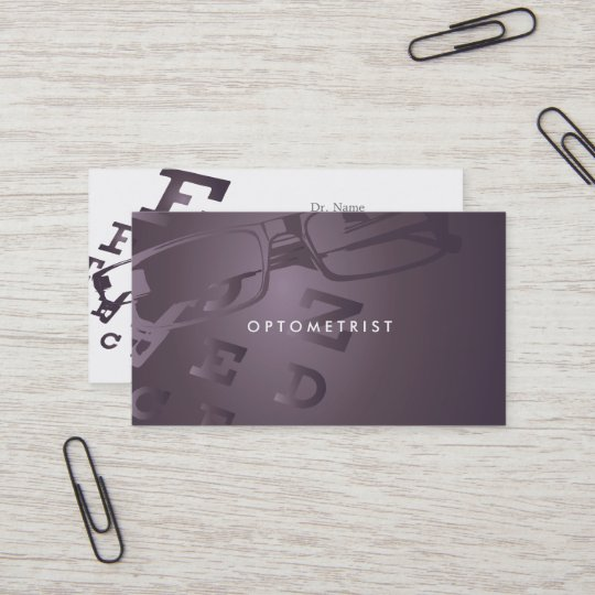 Optometrist business card zazzle optometrist business card colourmoves