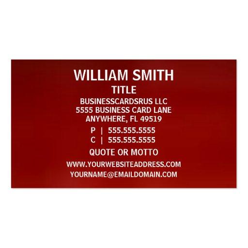 Optometrist Business Card (back side)