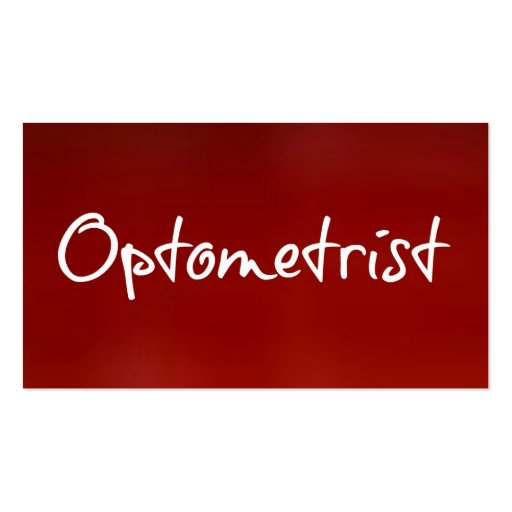 Optometrist Business Card (front side)
