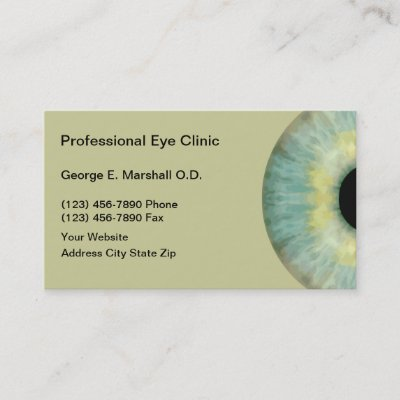 Optometrist optometry eyes business card zazzle colourmoves