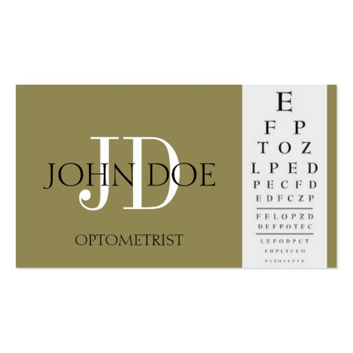 Eye doctor business card templates page4 bizcardstudio for Optometrist business card