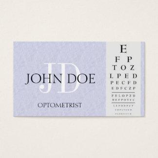 Optometrist Chart Light Blue Business Card