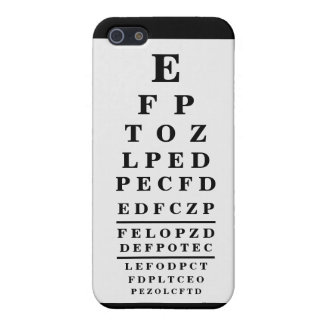 Optometrist Chart Optometry Black  Cover For iPhone SE/5/5s