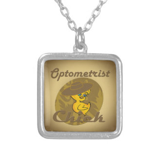 Optometrist Chick #6 Square Pendant Necklace
