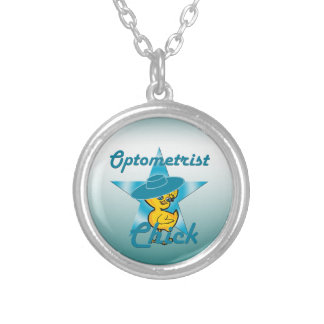Optometrist Chick #7 Round Pendant Necklace