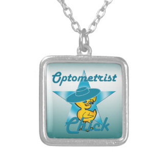 Optometrist Chick #7 Square Pendant Necklace
