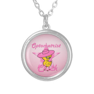 Optometrist Chick #8 Round Pendant Necklace