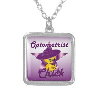 Optometrist Chick #9 Square Pendant Necklace