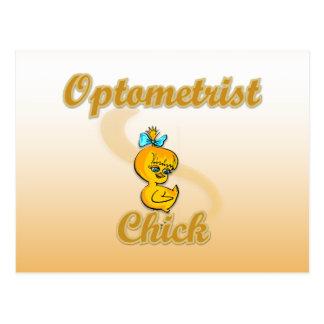 Optometrist Chick Postcard