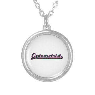 Optometrist Classic Job Design Round Pendant Necklace